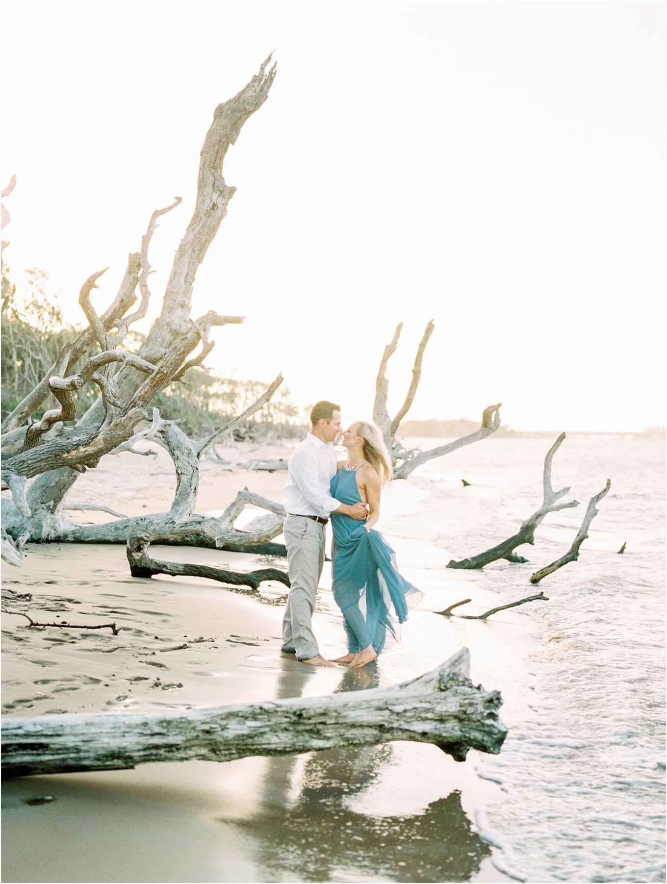 Lisa Silva Photography- Ponte Vedra Beach and Jacksonville, Florida Fine Art Film Wedding Photography- Engagement Shoot at Big Talbot Island_0032.jpg