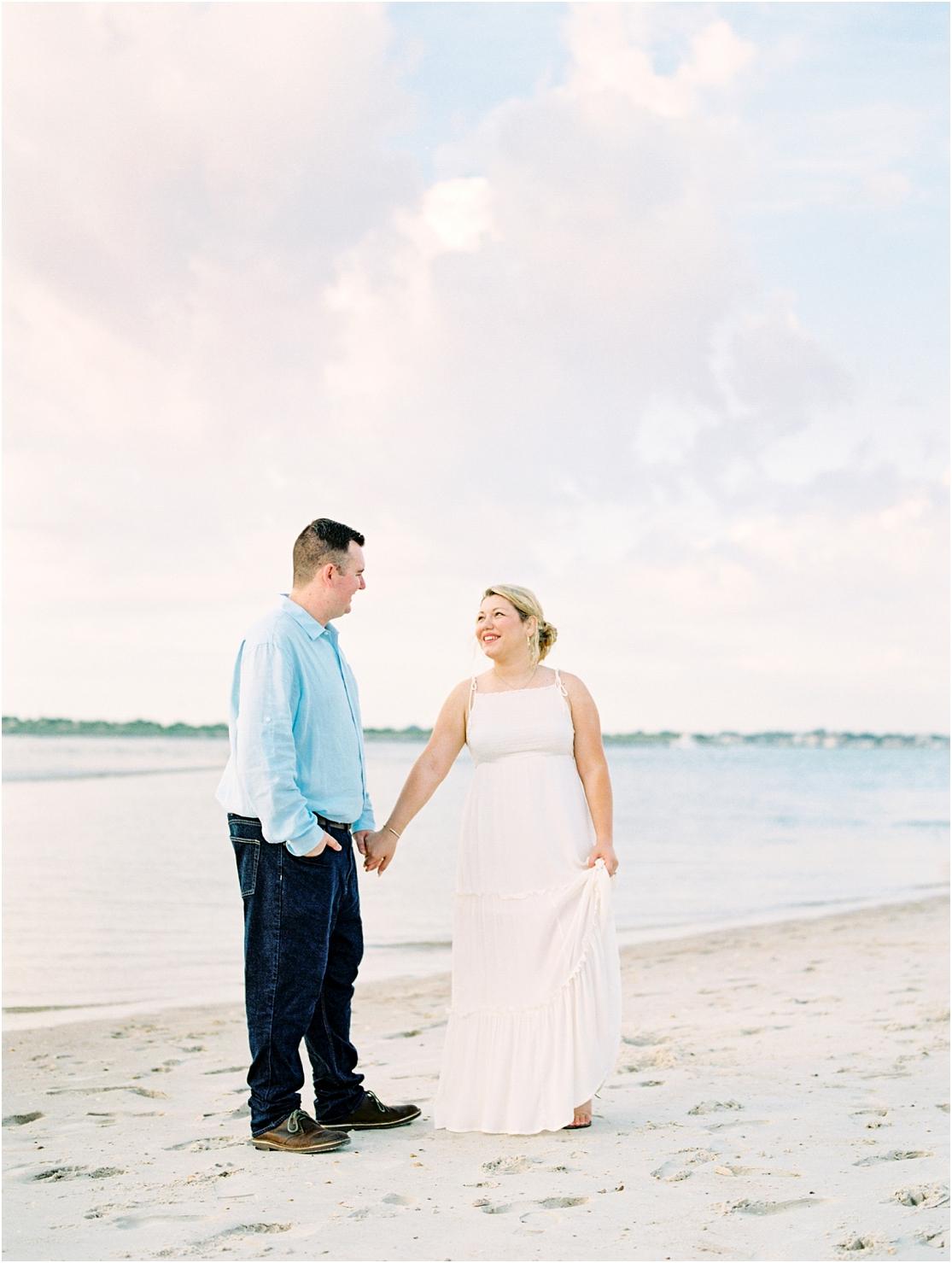 Lisa Silva Photography- Ponte Vedra Beach, St. Augustine and Jacksonville, Florida Fine Art Film Wedding Photography- Sunrise Engagement Session at  Vilano Beach_0004a.jpg