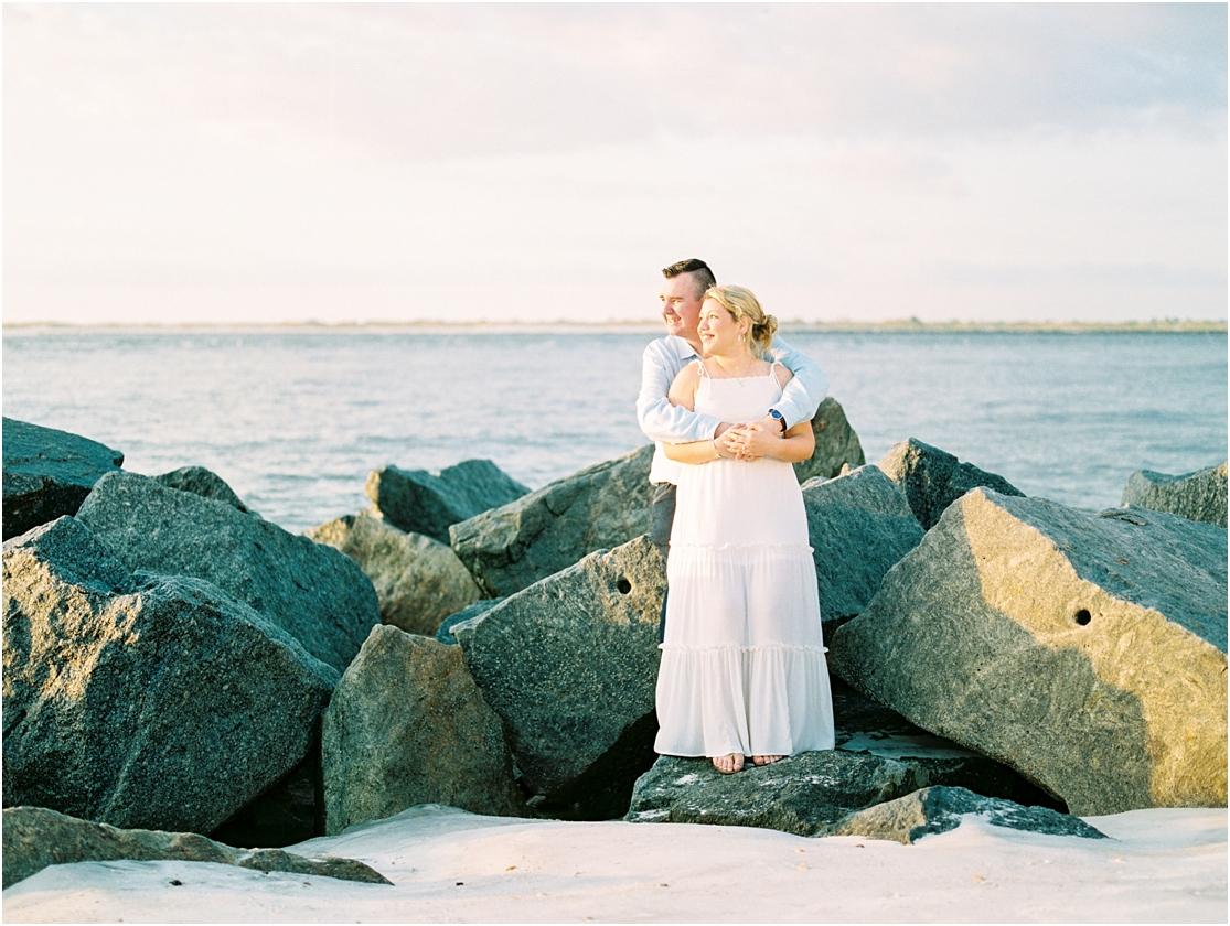 Lisa Silva Photography- Ponte Vedra Beach, St. Augustine and Jacksonville, Florida Fine Art Film Wedding Photography- Sunrise Engagement Session at  Vilano Beach_0006.jpg