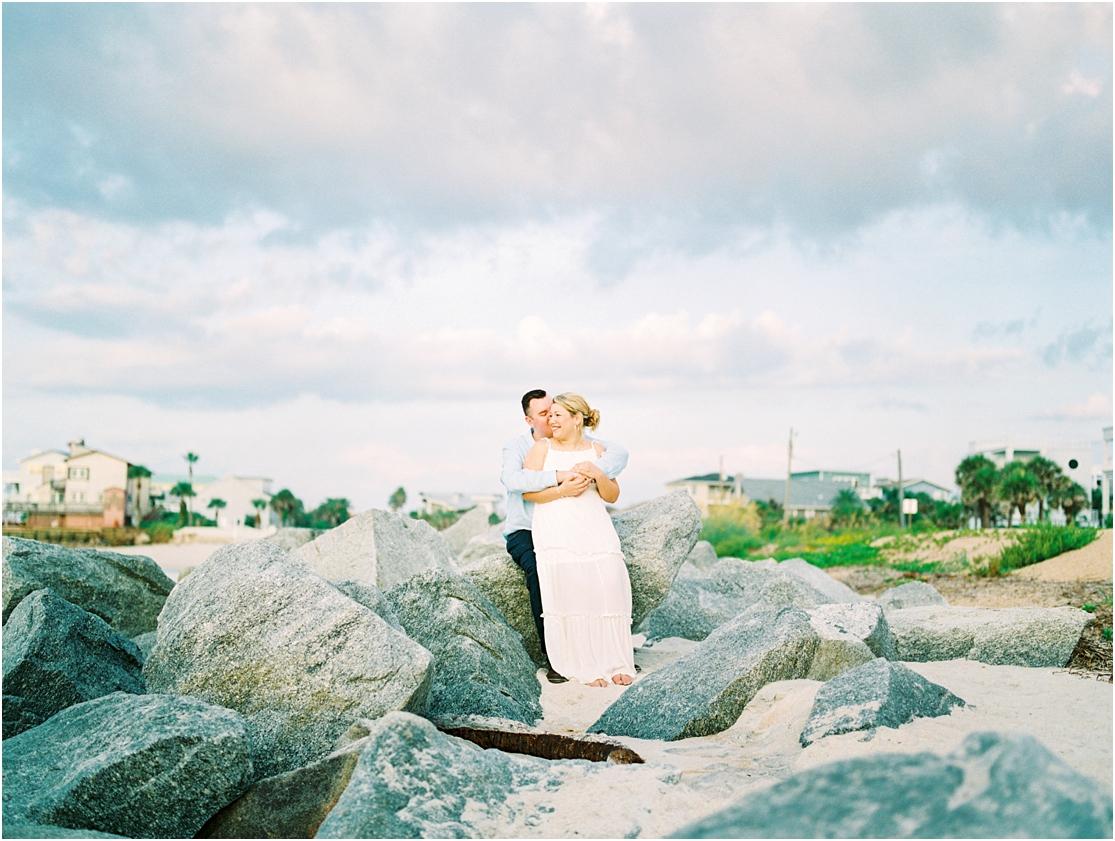 Lisa Silva Photography- Ponte Vedra Beach, St. Augustine and Jacksonville, Florida Fine Art Film Wedding Photography- Sunrise Engagement Session at  Vilano Beach_0009.jpg