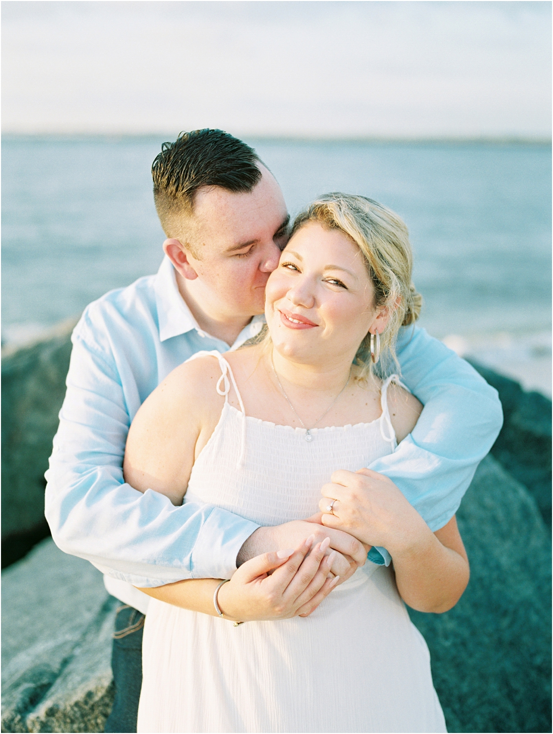 Lisa Silva Photography- Ponte Vedra Beach, St. Augustine and Jacksonville, Florida Fine Art Film Wedding Photography- Sunrise Engagement Session at  Vilano Beach_0007.jpg