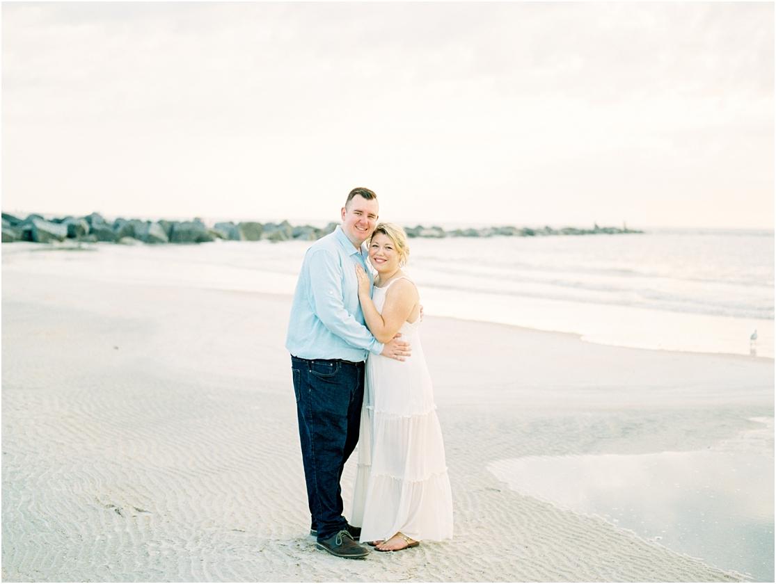 Lisa Silva Photography- Ponte Vedra Beach, St. Augustine and Jacksonville, Florida Fine Art Film Wedding Photography- Sunrise Engagement Session at  Vilano Beach_0011.jpg