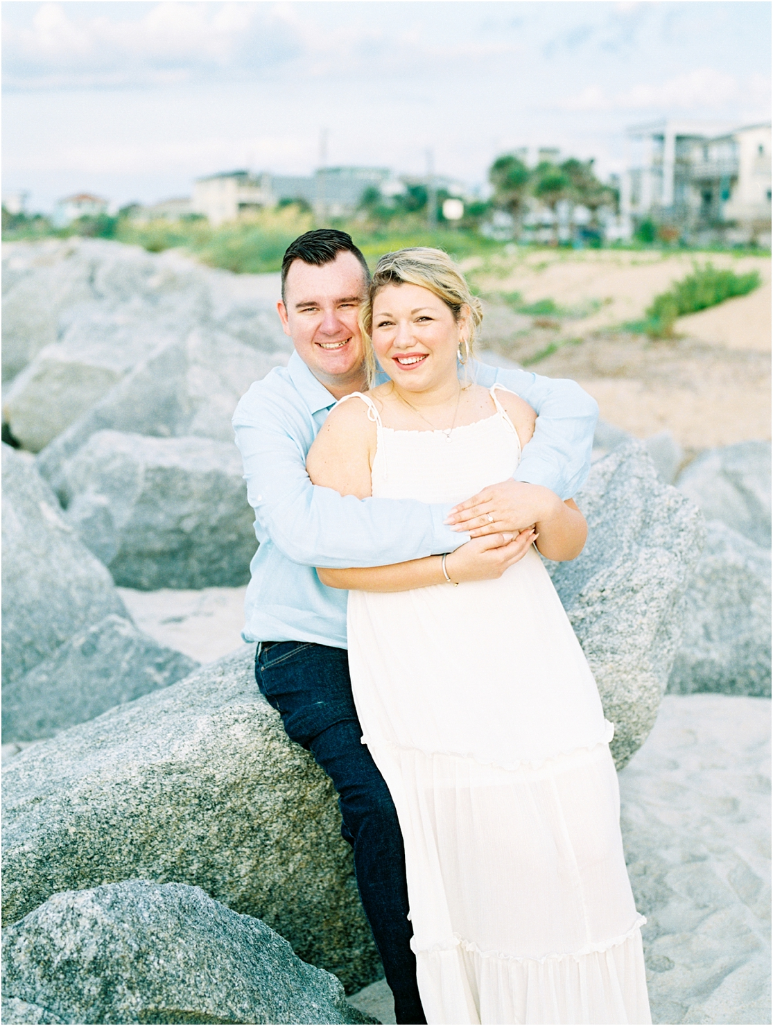 Lisa Silva Photography- Ponte Vedra Beach, St. Augustine and Jacksonville, Florida Fine Art Film Wedding Photography- Sunrise Engagement Session at  Vilano Beach_0012-1.jpg
