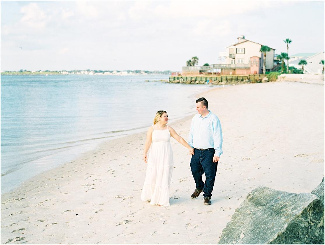 Lisa Silva Photography- Ponte Vedra Beach, St. Augustine and Jacksonville, Florida Fine Art Film Wedding Photography- Sunrise Engagement Session at  Vilano Beach_0012.jpg