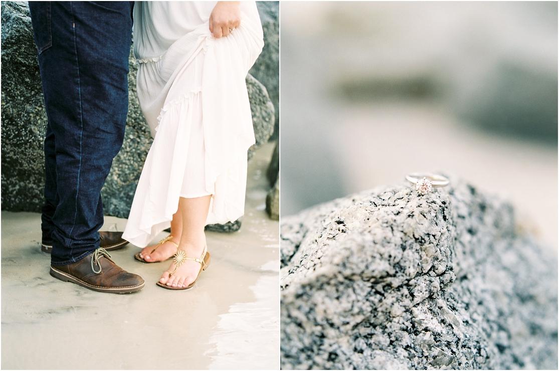 Lisa Silva Photography- Ponte Vedra Beach, St. Augustine and Jacksonville, Florida Fine Art Film Wedding Photography- Sunrise Engagement Session at  Vilano Beach_0015.jpg