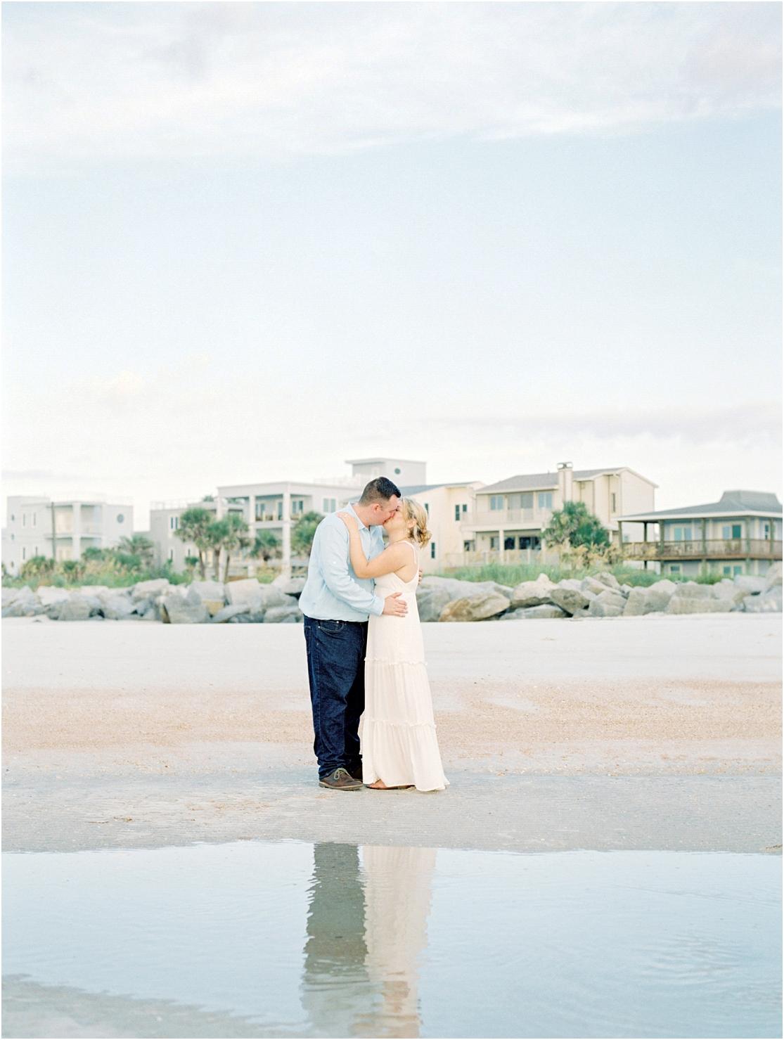 Lisa Silva Photography- Ponte Vedra Beach, St. Augustine and Jacksonville, Florida Fine Art Film Wedding Photography- Sunrise Engagement Session at  Vilano Beach_0017.jpg