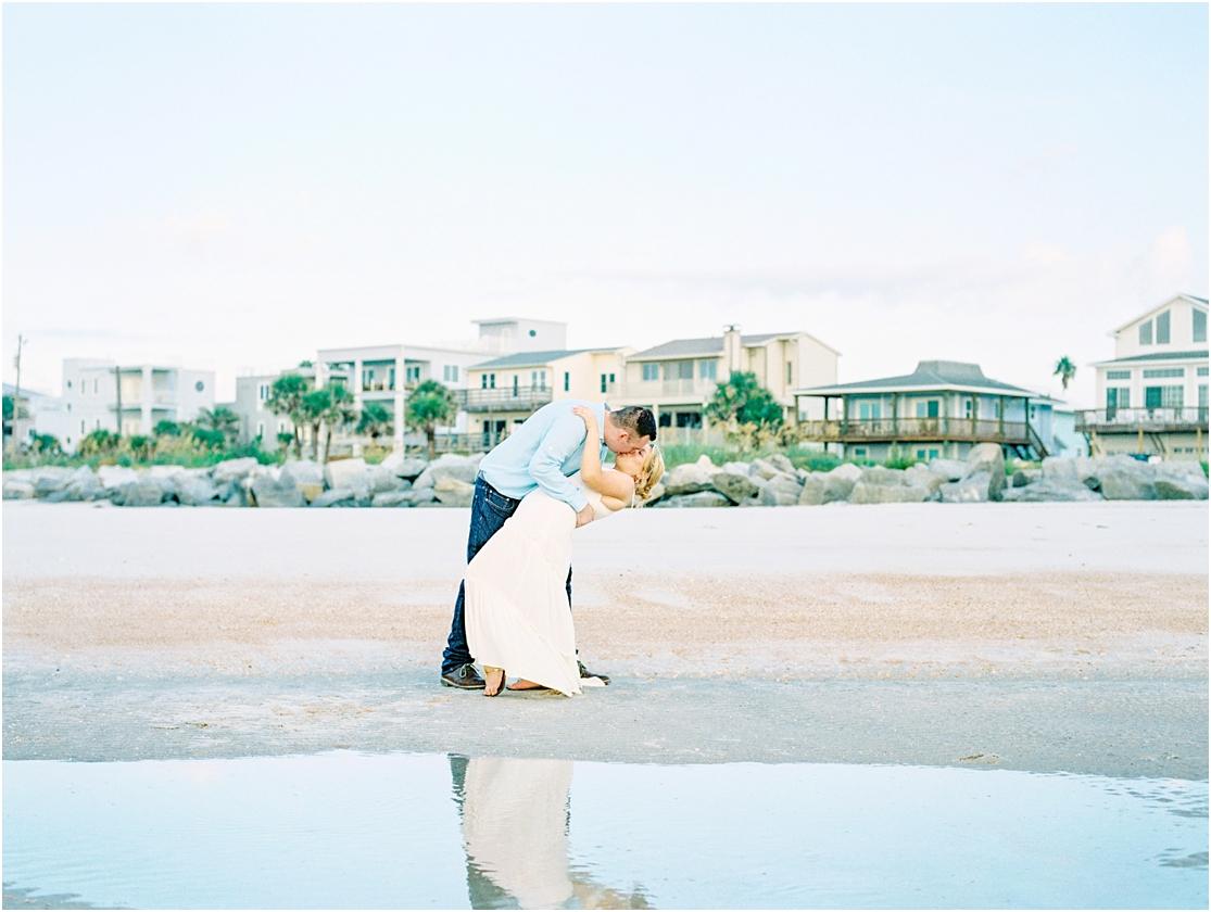 Lisa Silva Photography- Ponte Vedra Beach, St. Augustine and Jacksonville, Florida Fine Art Film Wedding Photography- Sunrise Engagement Session at  Vilano Beach_0018.jpg