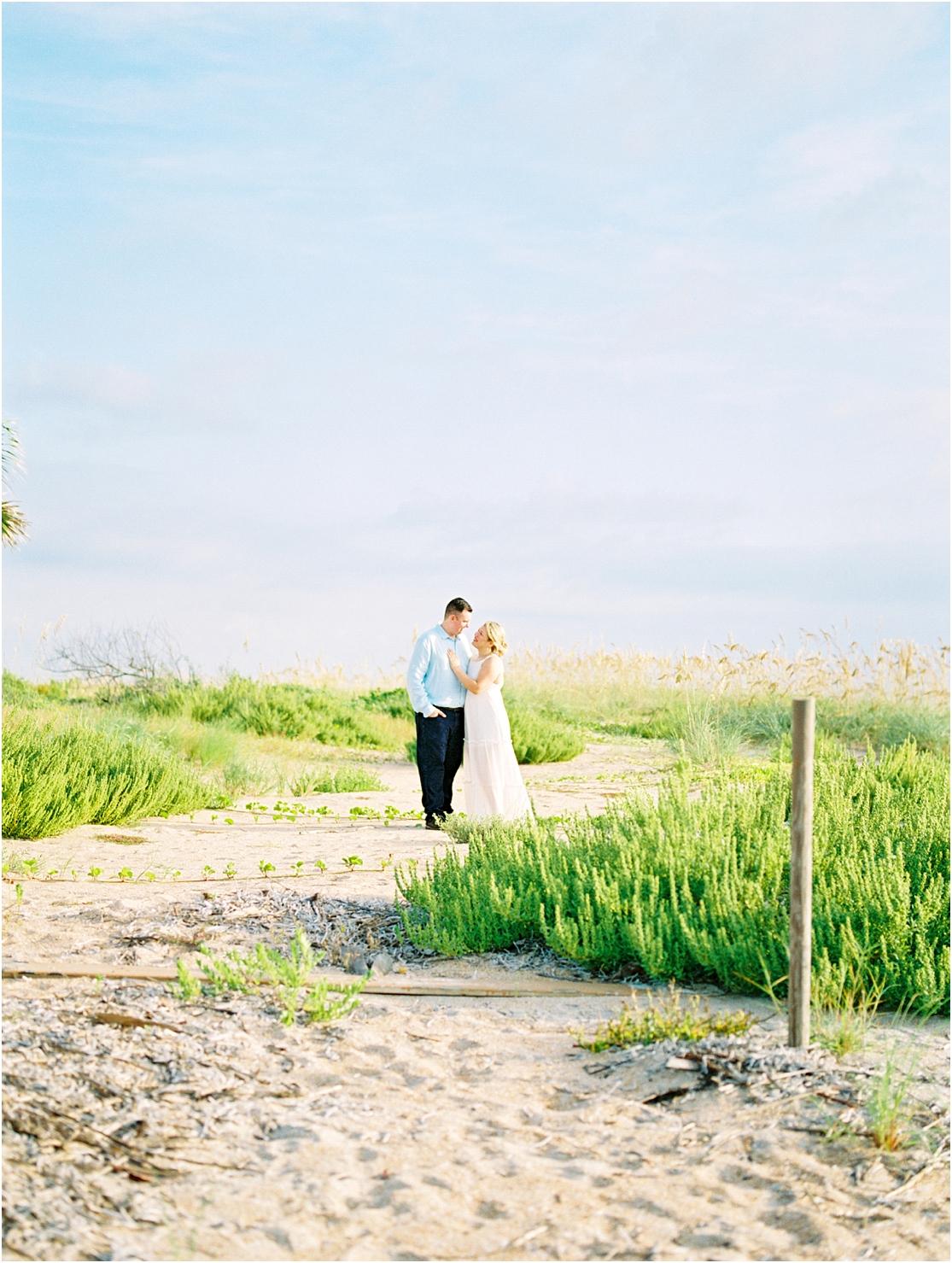 Lisa Silva Photography- Ponte Vedra Beach, St. Augustine and Jacksonville, Florida Fine Art Film Wedding Photography- Sunrise Engagement Session at  Vilano Beach_0023.jpg