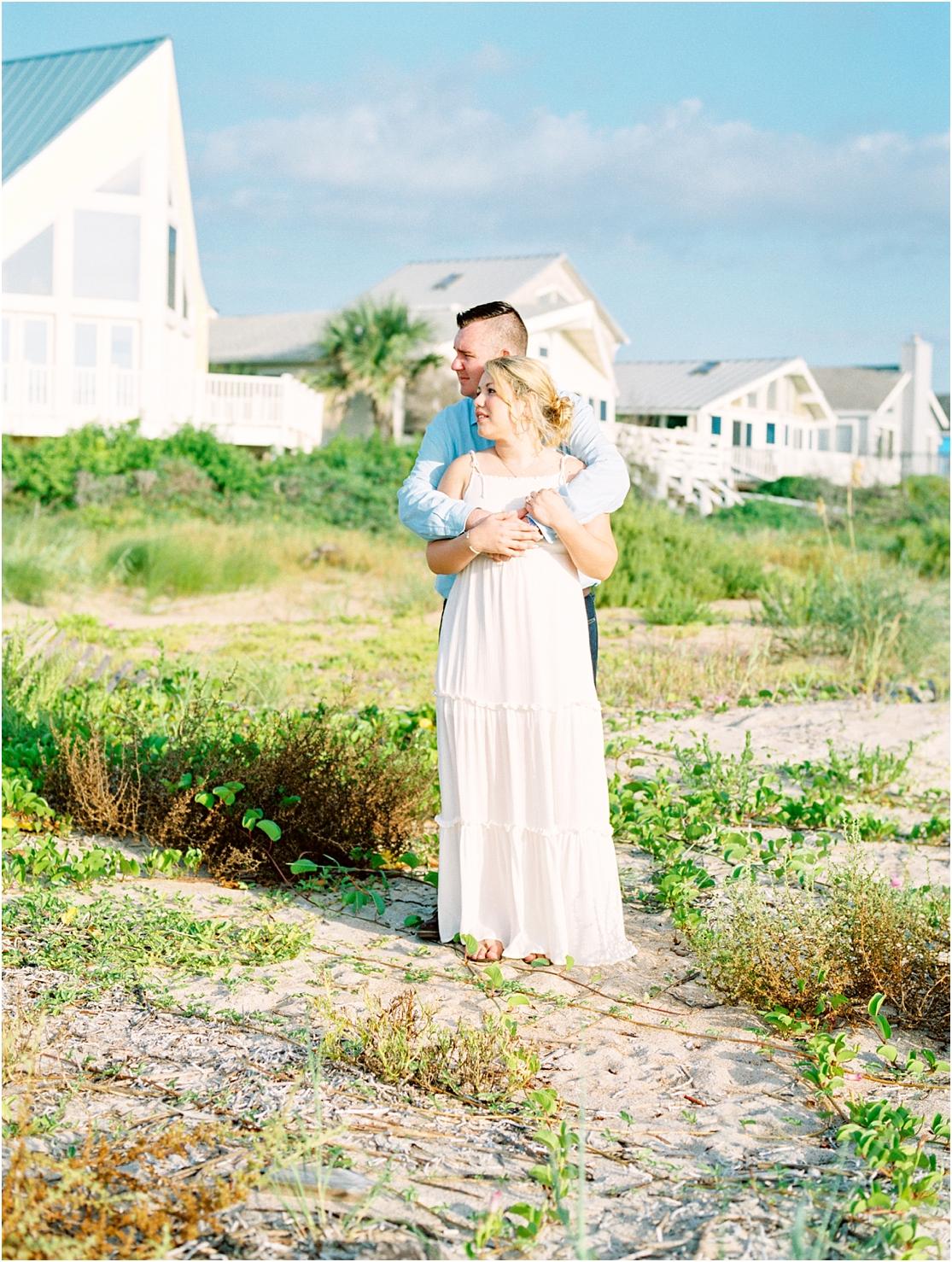 Lisa Silva Photography- Ponte Vedra Beach, St. Augustine and Jacksonville, Florida Fine Art Film Wedding Photography- Sunrise Engagement Session at  Vilano Beach_0025.jpg