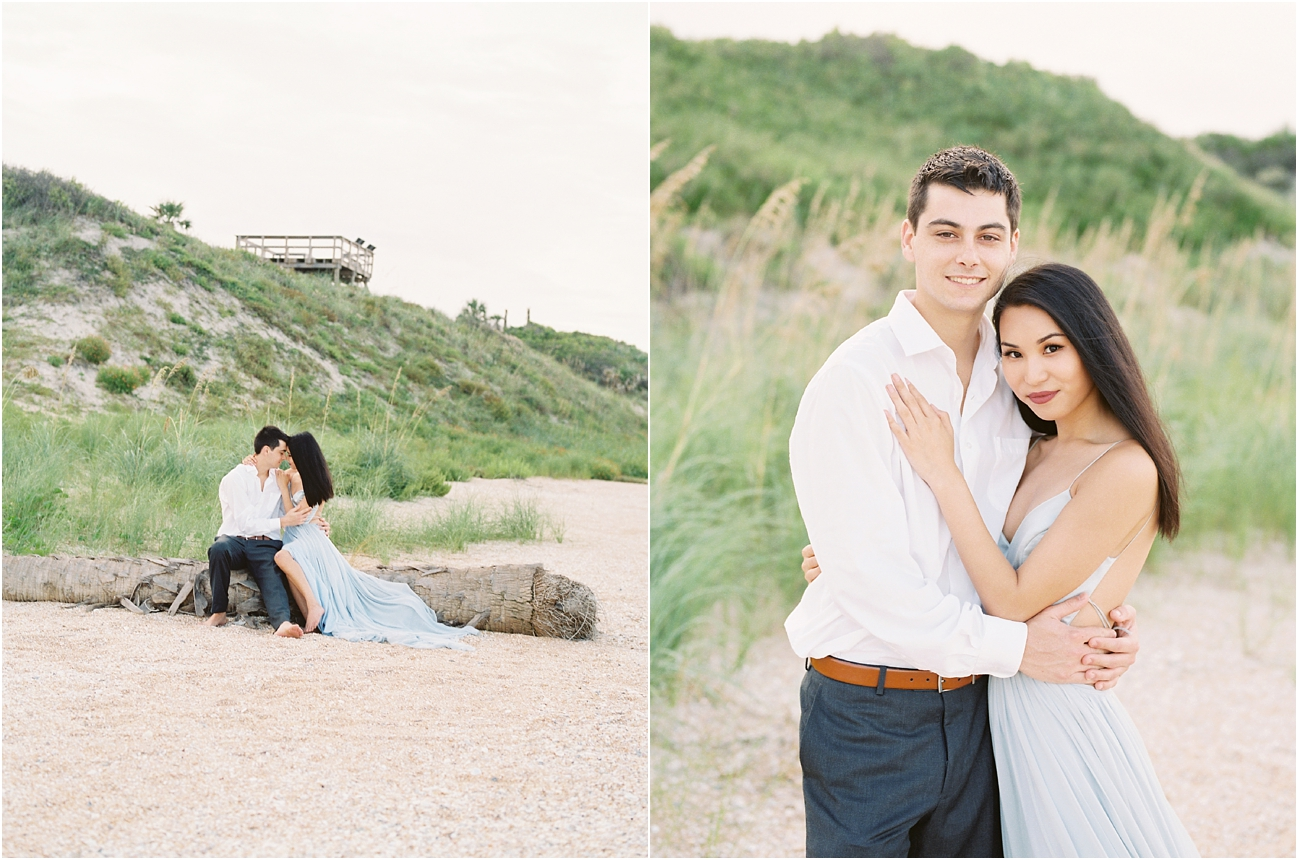 Lisa Silva Photography- Ponte Vedra Beach, St. Augustine and Jacksonville, Florida Fine Art Film Wedding Photography- Sunset Engagement Session at  Guana Beach State Park_0021.jpg