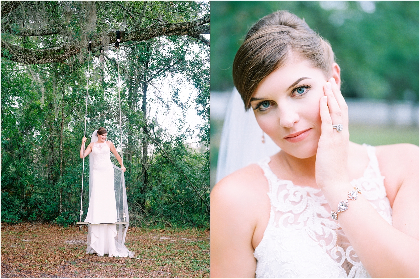 Lisa Silva Photography- Ponte Vedra Beach, St. Augustine and Jacksonville, Florida Fine Art Film Wedding and Boudoir Photography- Elegant Blush and Navy Wedding at Chandler Oaks Barn in St. Augustine, Florida_0025a.jpg