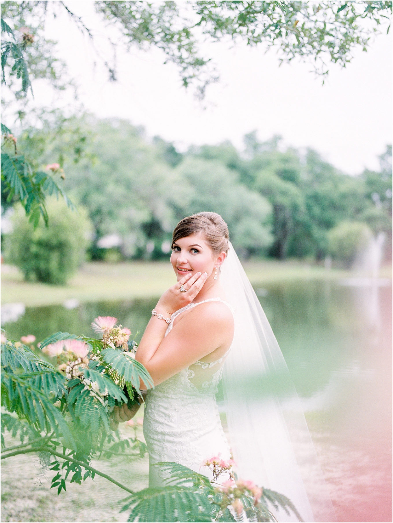 Lisa Silva Photography- Ponte Vedra Beach, St. Augustine and Jacksonville, Florida Fine Art Film Wedding and Boudoir Photography- Elegant Blush and Navy Wedding at Chandler Oaks Barn in St. Augustine, Florida_0026.jpg