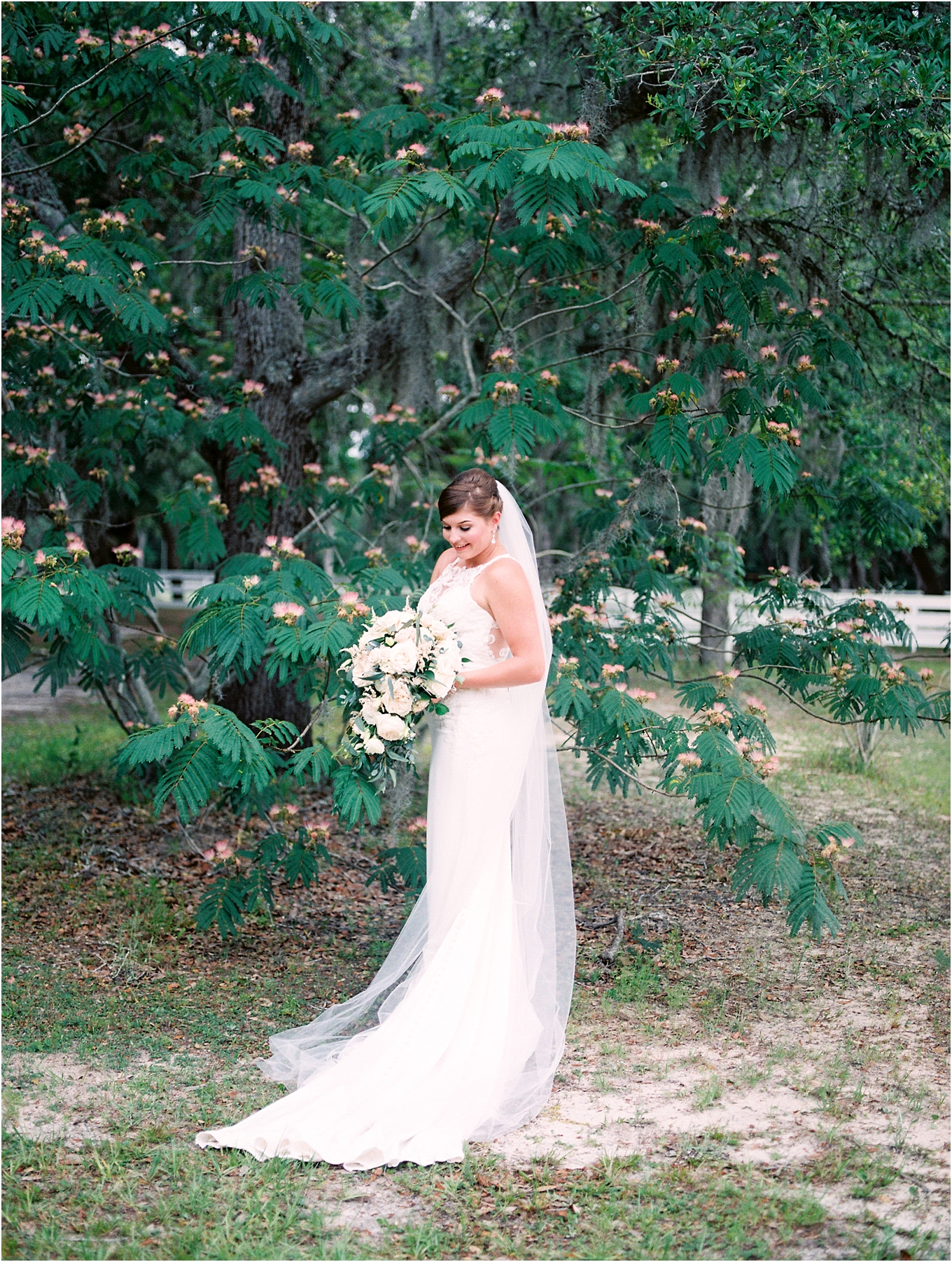 Lisa Silva Photography- Ponte Vedra Beach, St. Augustine and Jacksonville, Florida Fine Art Film Wedding and Boudoir Photography- Elegant Blush and Navy Wedding at Chandler Oaks Barn in St. Augustine, Florida_0032.jpg