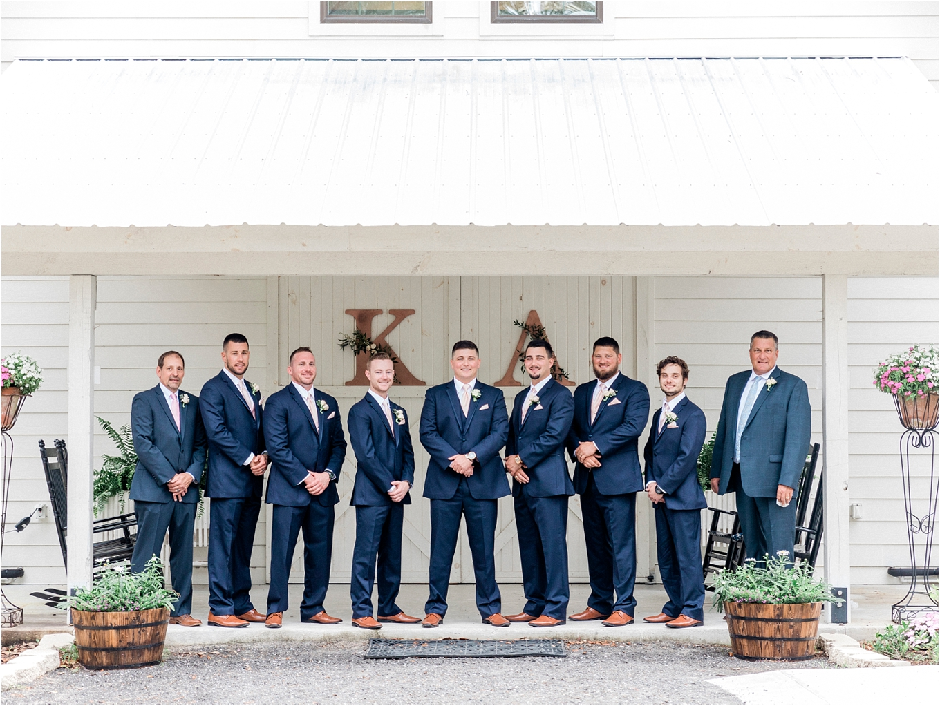Lisa Silva Photography- Ponte Vedra Beach, St. Augustine and Jacksonville, Florida Fine Art Film Wedding and Boudoir Photography- Elegant Blush and Navy Wedding at Chandler Oaks Barn in St. Augustine, Florida_0046.jpg