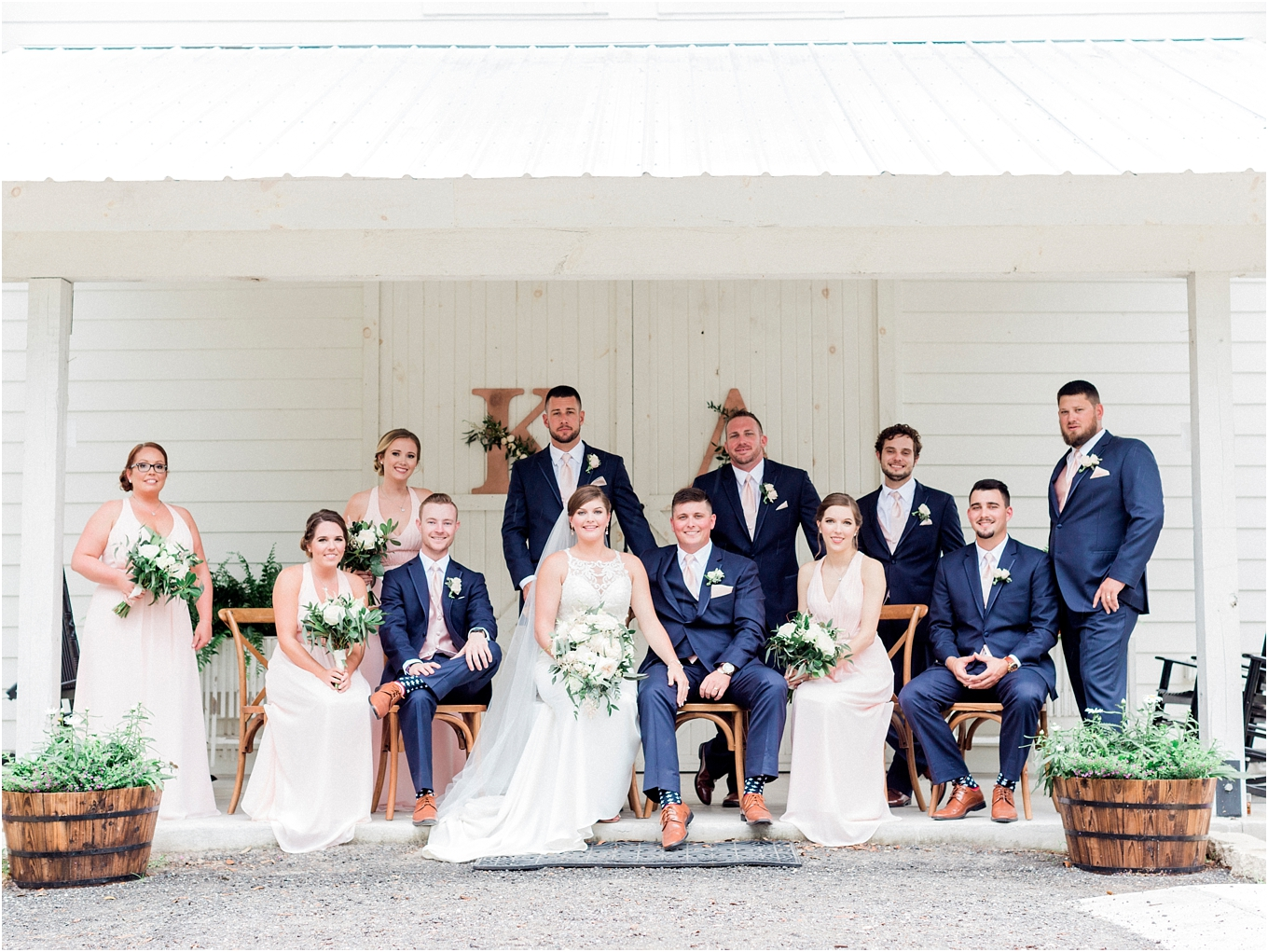 Lisa Silva Photography- Ponte Vedra Beach, St. Augustine and Jacksonville, Florida Fine Art Film Wedding and Boudoir Photography- Elegant Blush and Navy Wedding at Chandler Oaks Barn in St. Augustine, Florida_0072.jpg