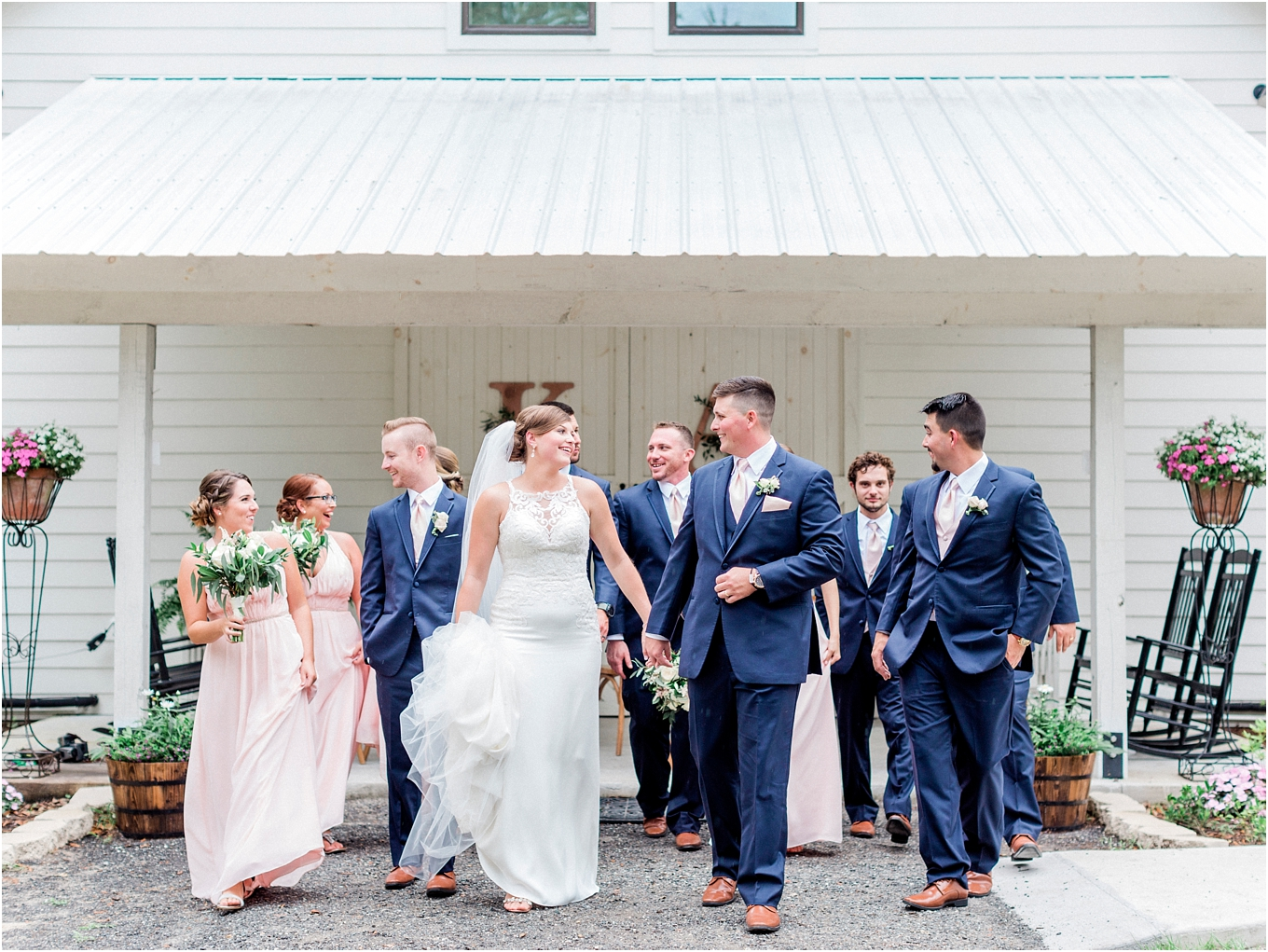 Lisa Silva Photography- Ponte Vedra Beach, St. Augustine and Jacksonville, Florida Fine Art Film Wedding and Boudoir Photography- Elegant Blush and Navy Wedding at Chandler Oaks Barn in St. Augustine, Florida_0076.jpg