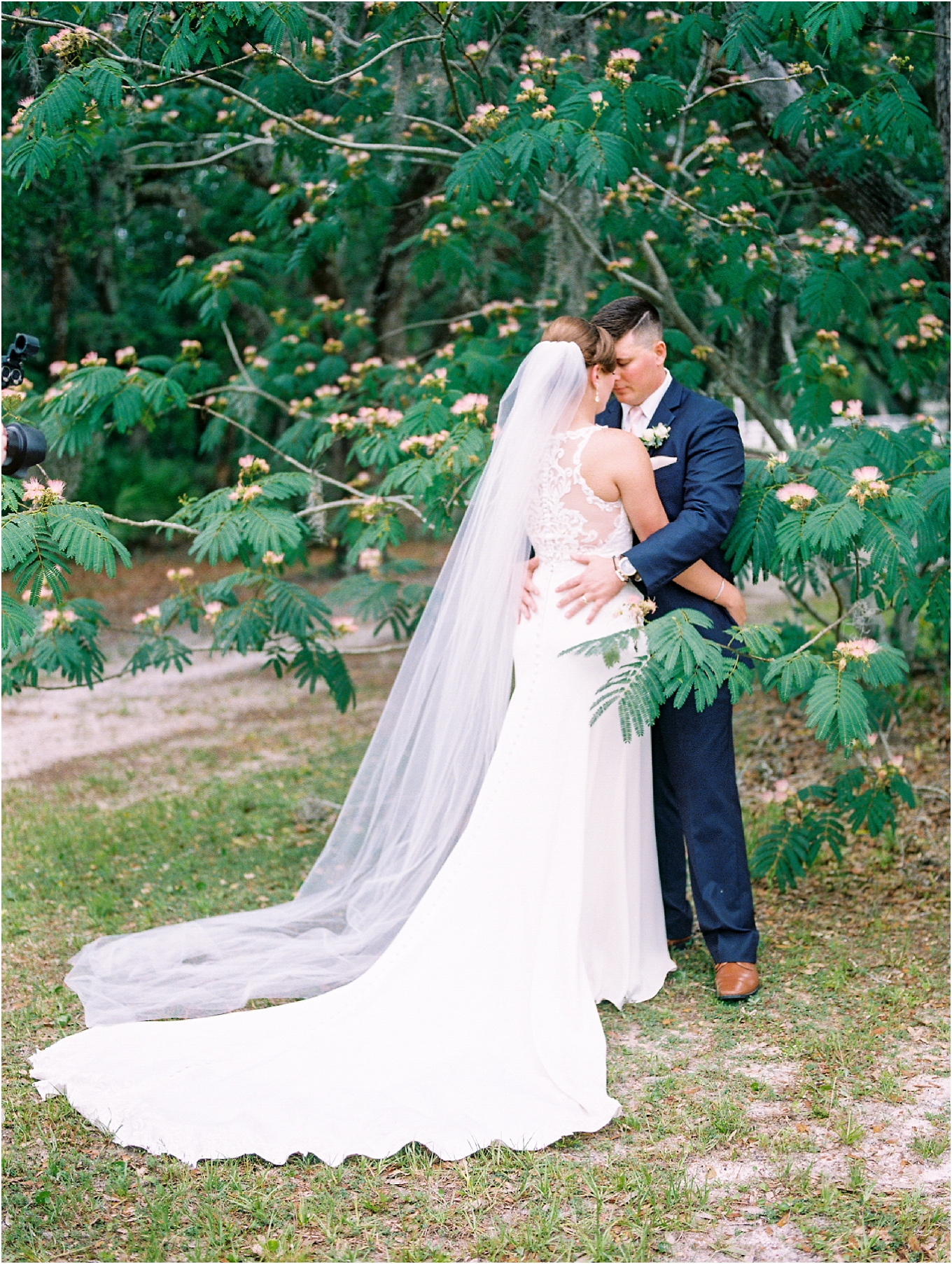 Lisa Silva Photography- Ponte Vedra Beach, St. Augustine and Jacksonville, Florida Fine Art Film Wedding and Boudoir Photography- Elegant Blush and Navy Wedding at Chandler Oaks Barn in St. Augustine, Florida_0078.jpg