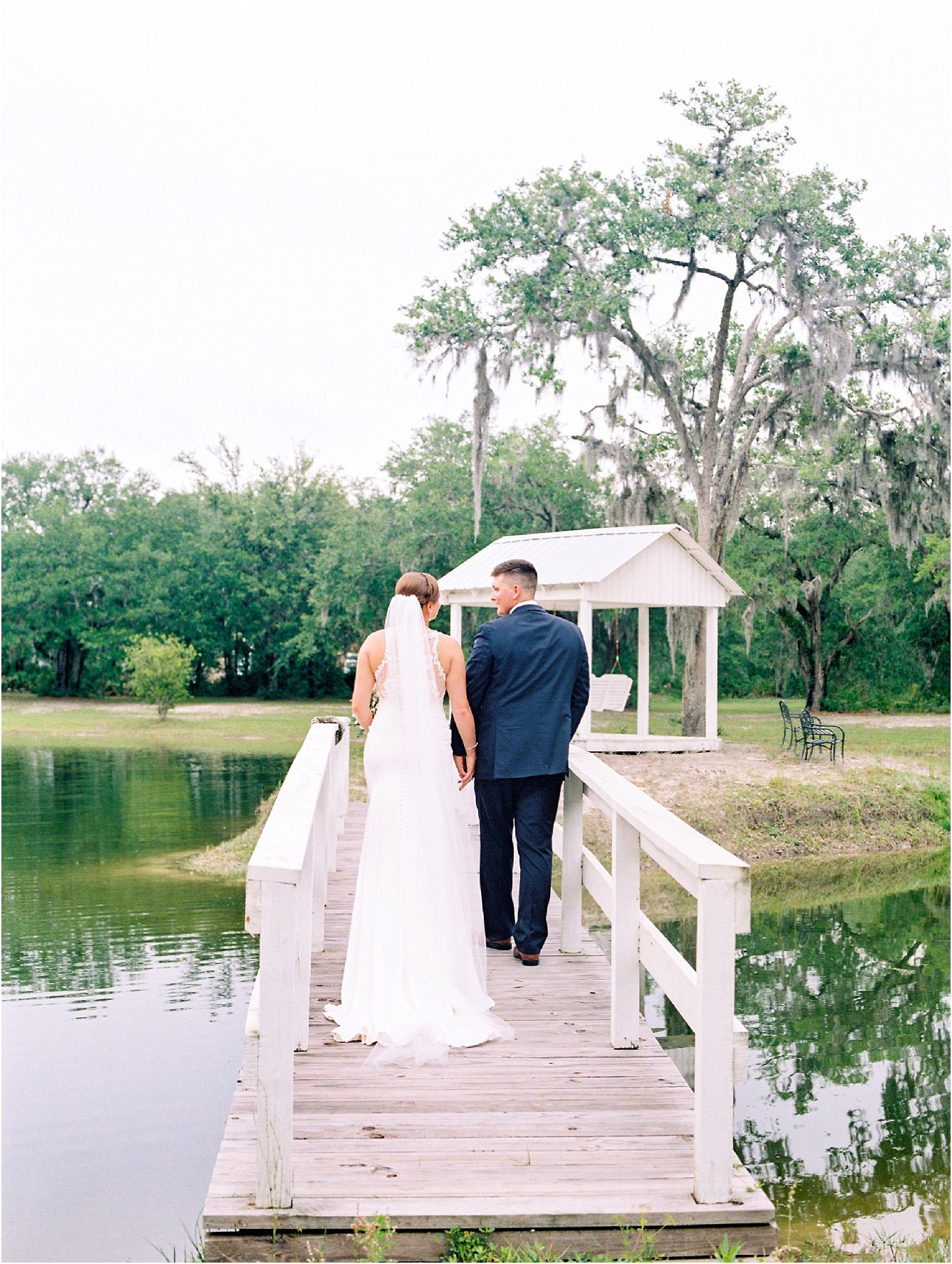 Lisa Silva Photography- Ponte Vedra Beach, St. Augustine and Jacksonville, Florida Fine Art Film Wedding and Boudoir Photography- Elegant Blush and Navy Wedding at Chandler Oaks Barn in St. Augustine, Florida_0082.jpg