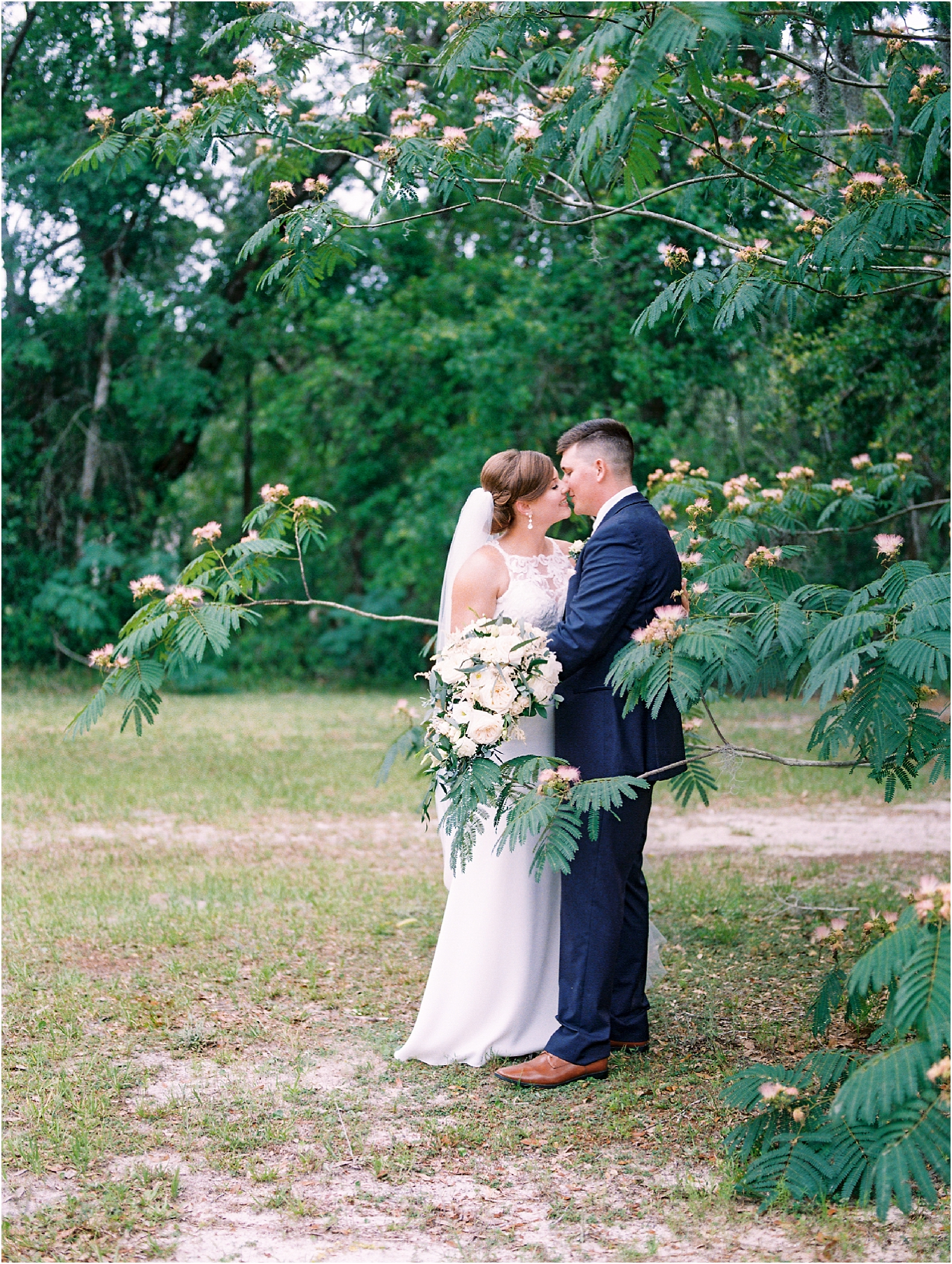 Lisa Silva Photography- Ponte Vedra Beach, St. Augustine and Jacksonville, Florida Fine Art Film Wedding and Boudoir Photography- Elegant Blush and Navy Wedding at Chandler Oaks Barn in St. Augustine, Florida_0088.jpg