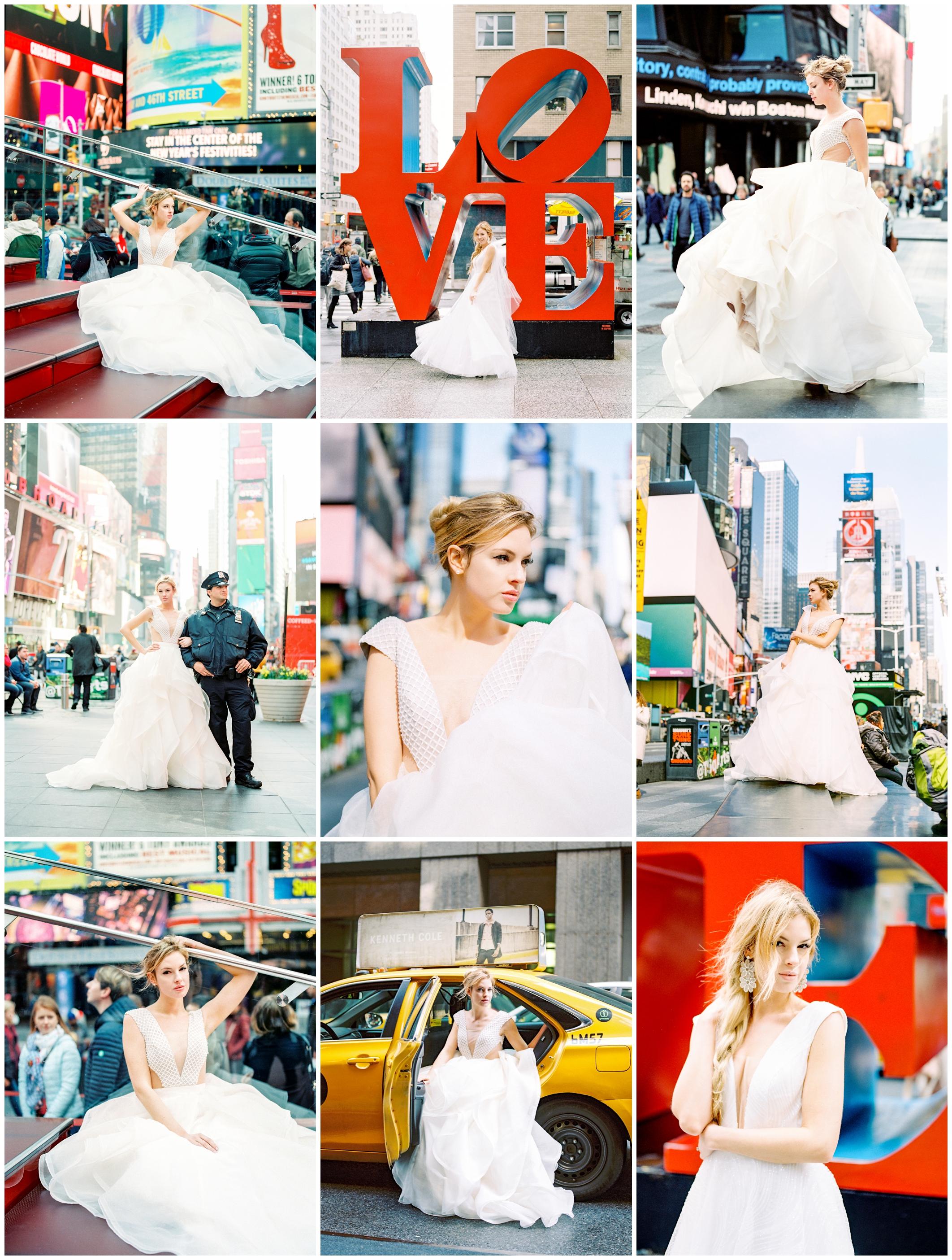 photoshoot for Olia Zavozina in Times Square