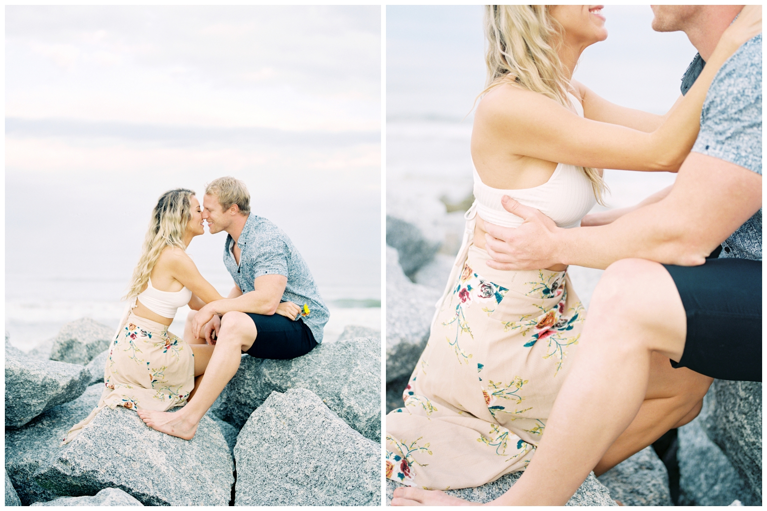 Lisa Silva Photography -Beachy Lifestyle Engagement Session in Palm Coast Florida - Jacksonville Film Photograpgers_0015.jpg