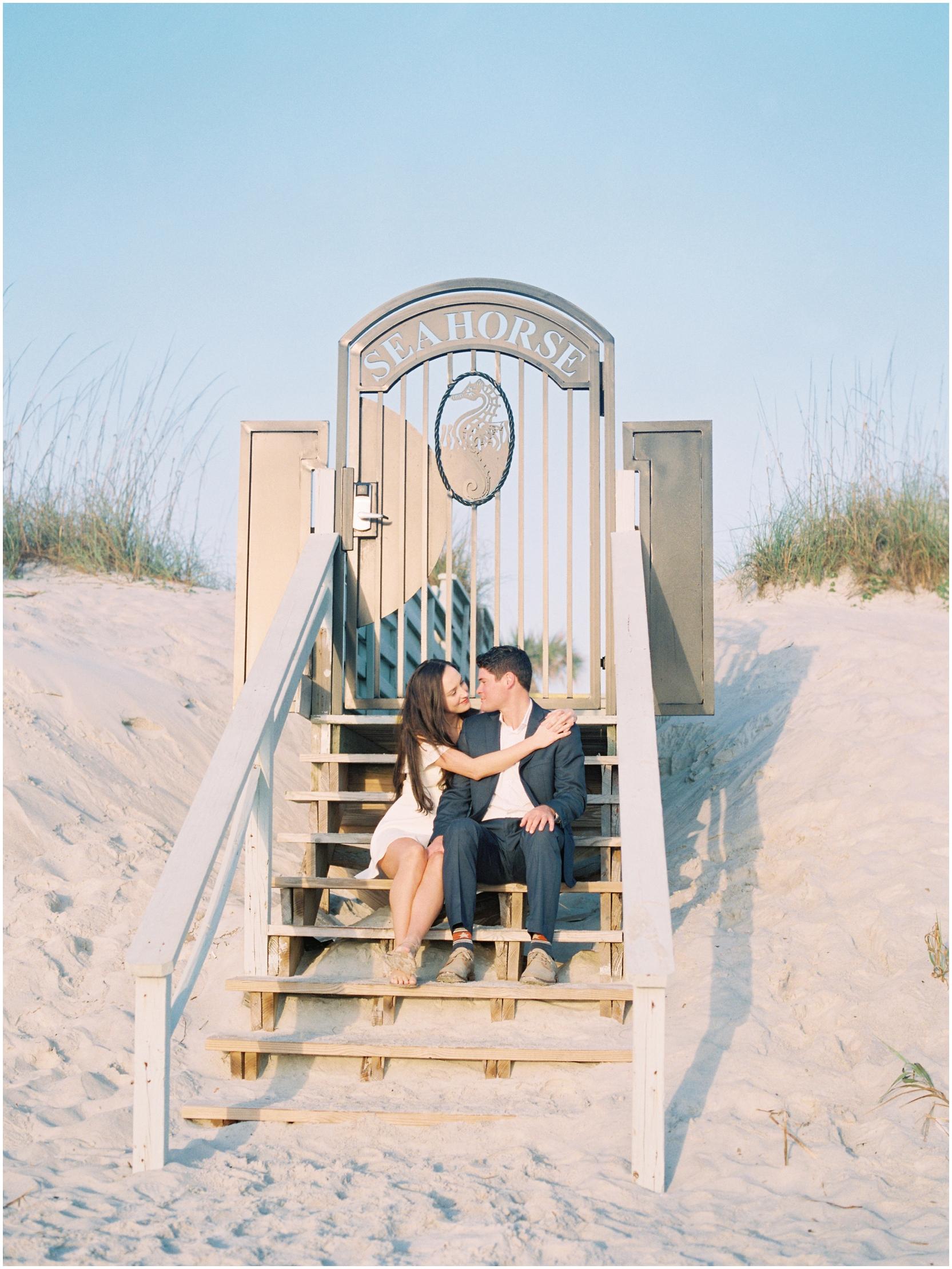 Lisa Silva Photography -Engagement Session at Neptune Beach, Florida- Jacksonville and North East Florida Fine Art Film Photographer_0016.jpg
