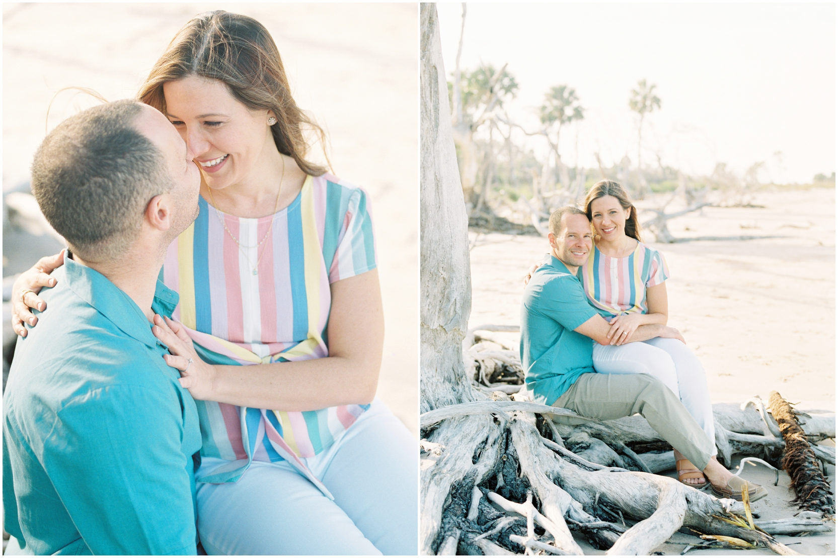 Lisa Silva Photography -Engagement Session at Big Talbot Island- Jacksonville and North East Florida Fine Art Film Photographer_0016.jpg