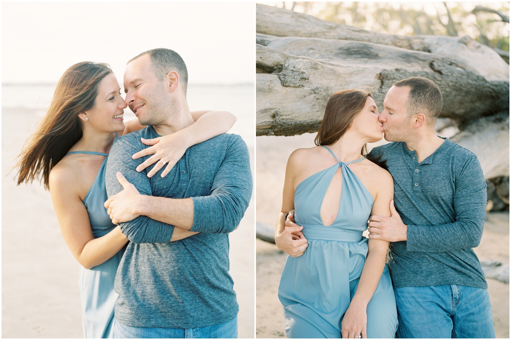 Lisa Silva Photography -Engagement Session at Big Talbot Island- Jacksonville and North East Florida Fine Art Film Photographer_0033.jpg