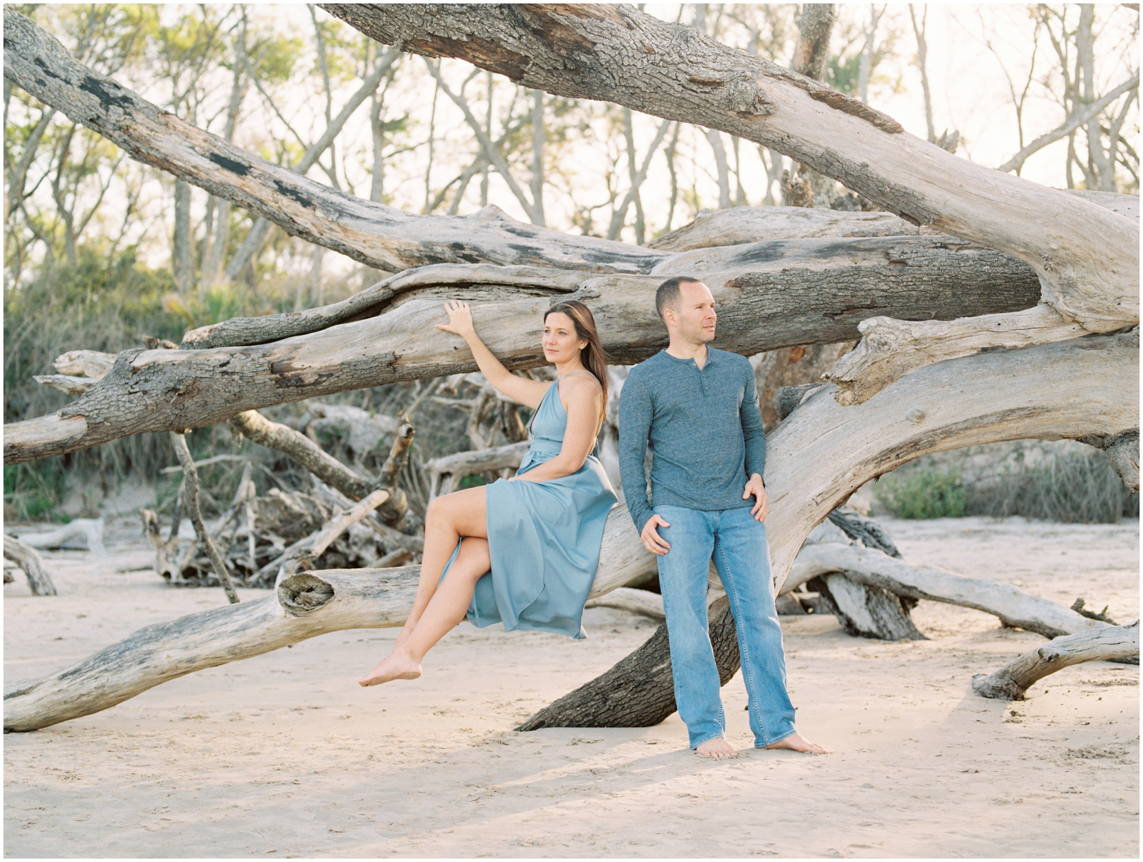 Lisa Silva Photography -Engagement Session at Big Talbot Island- Jacksonville and North East Florida Fine Art Film Photographer_0036.jpg