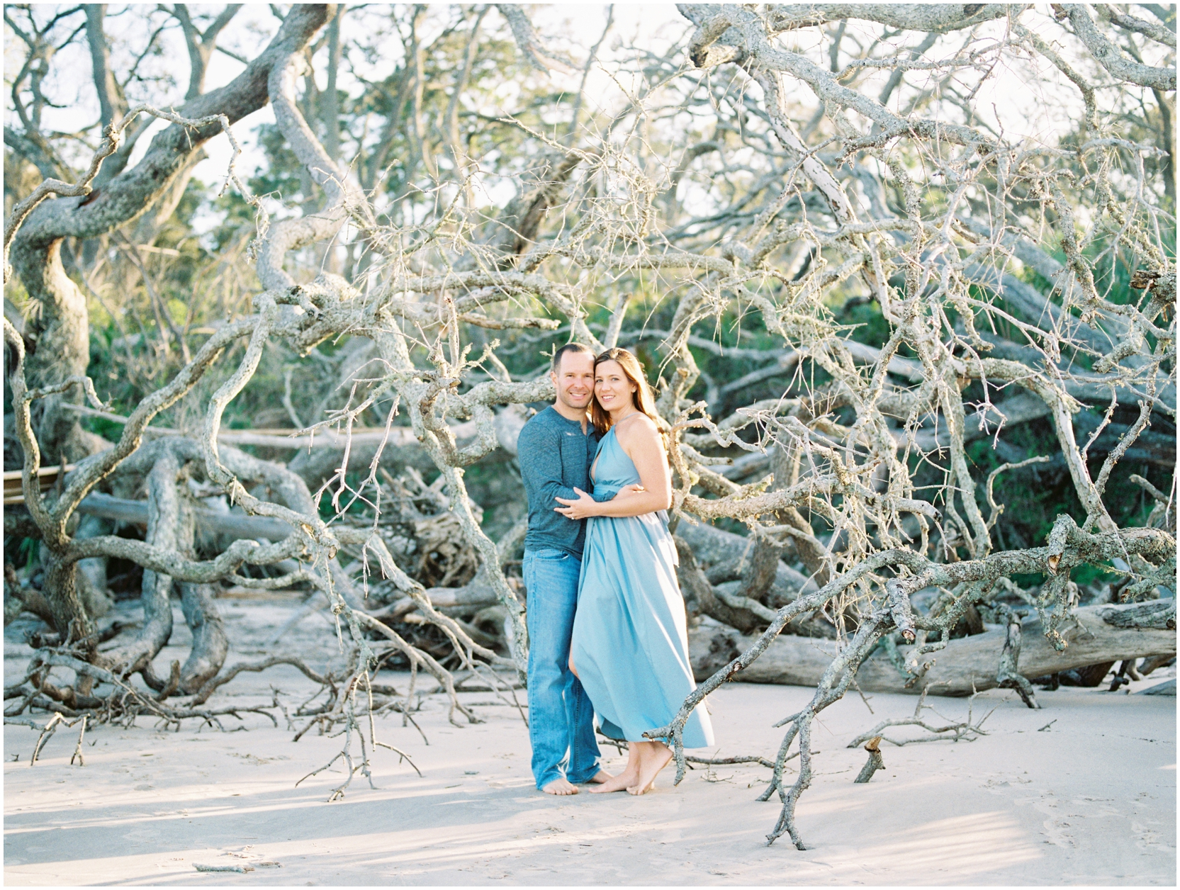 Lisa Silva Photography -Engagement Session at Big Talbot Island- Jacksonville and North East Florida Fine Art Film Photographer_0040.jpg