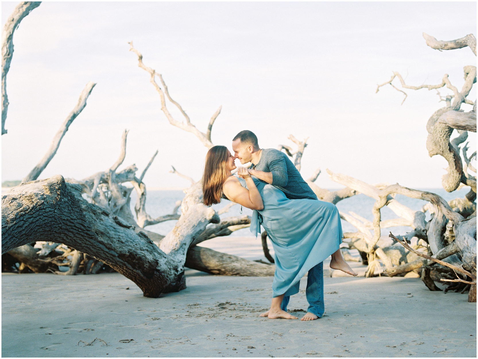 Lisa Silva Photography -Engagement Session at Big Talbot Island- Jacksonville and North East Florida Fine Art Film Photographer_0045.jpg