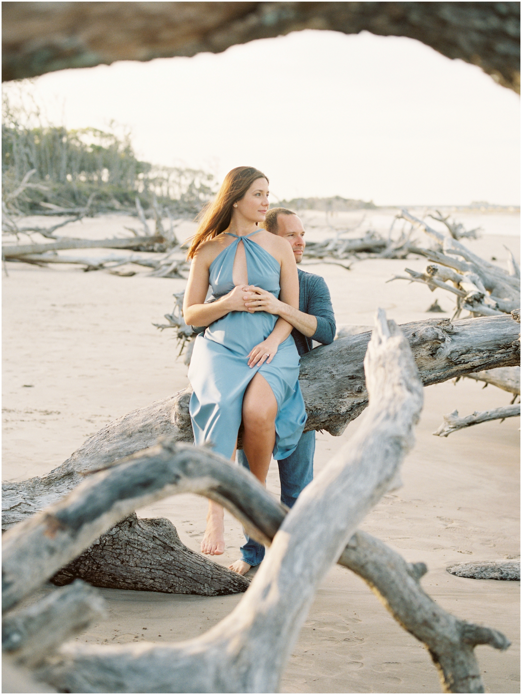 Lisa Silva Photography -Engagement Session at Big Talbot Island- Jacksonville and North East Florida Fine Art Film Photographer_0044.jpg