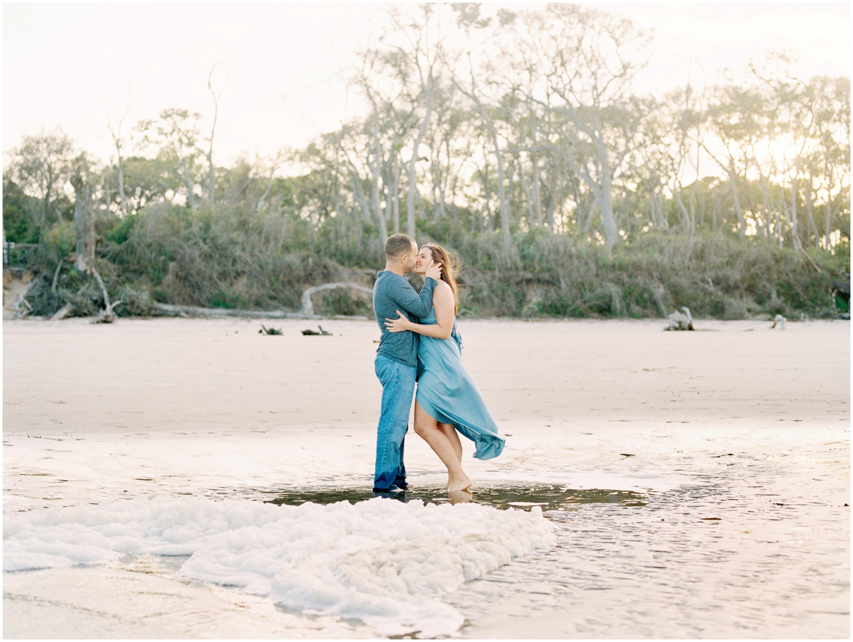 Lisa Silva Photography -Engagement Session at Big Talbot Island- Jacksonville and North East Florida Fine Art Film Photographer_0056.jpg