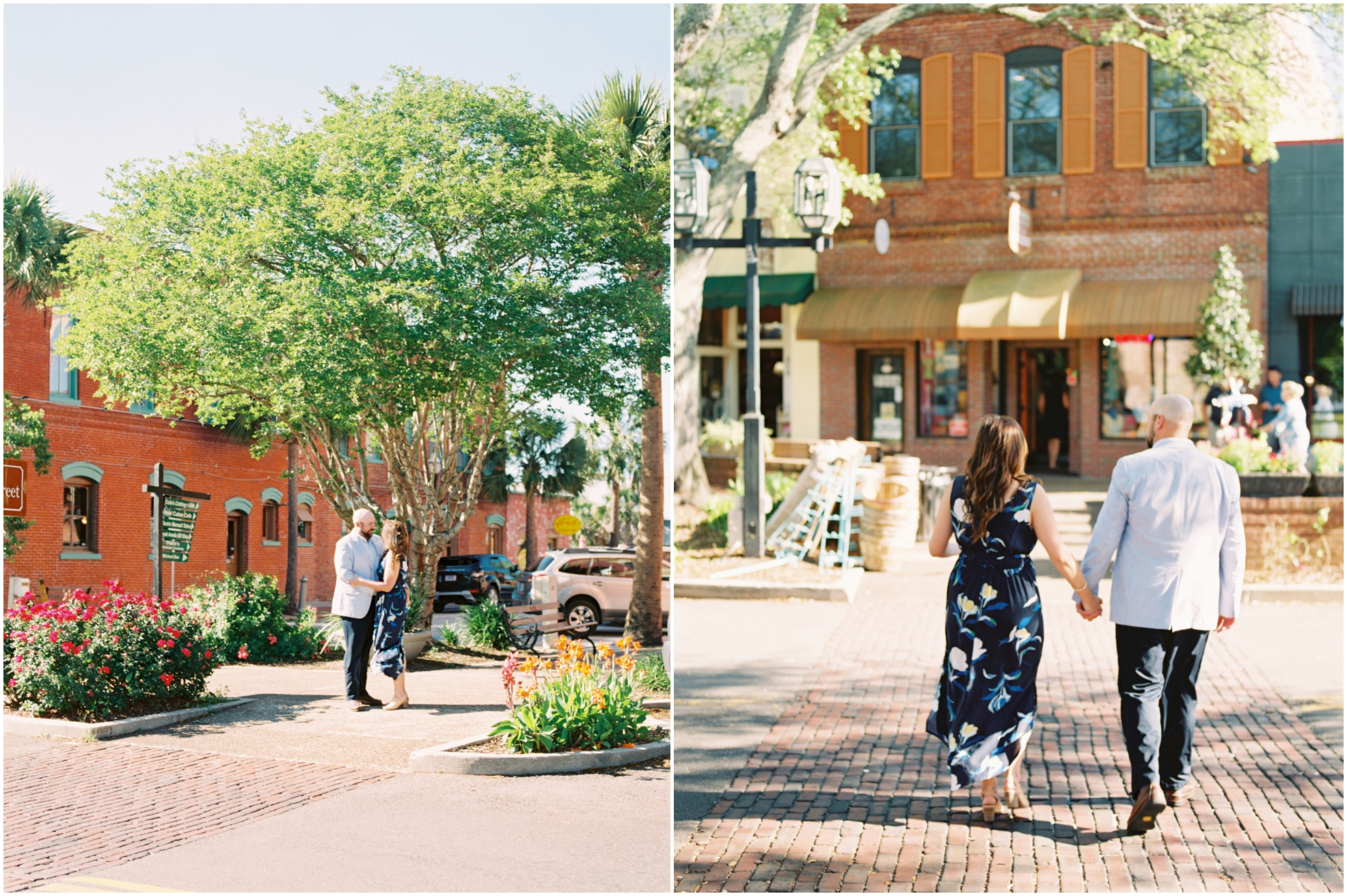 Lisa Silva Photography- Jacksonville, St. Augustine, Amelia Island, Ponte Vedra Beach, North East Florida Fine Art Film Photographer- Engagement Session in Historic Downtown Fernandina Beach- Amelia Island Wedding Photographer_0018.jpg