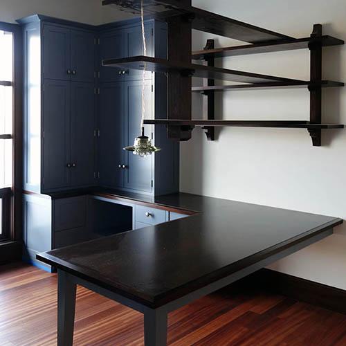 study desk  and shelf unit