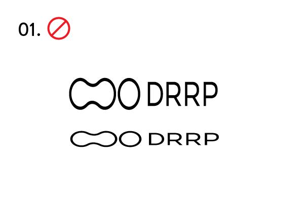 No contraer o extender el logotipo.