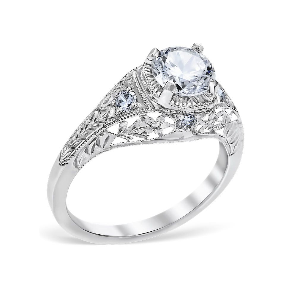 Vintage Inspired Filigree Engagement Ring