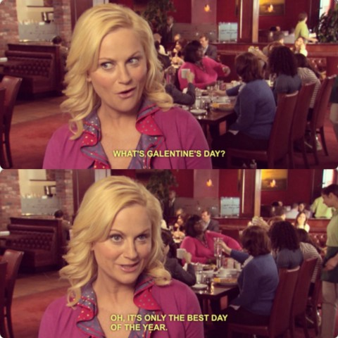 """What is Galentine's Day? Oh, it's only the best day of the year!""  -Leslie Knope"