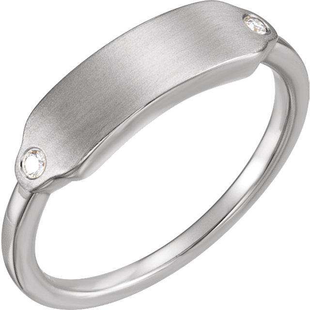 Sterling and Diamond Ring