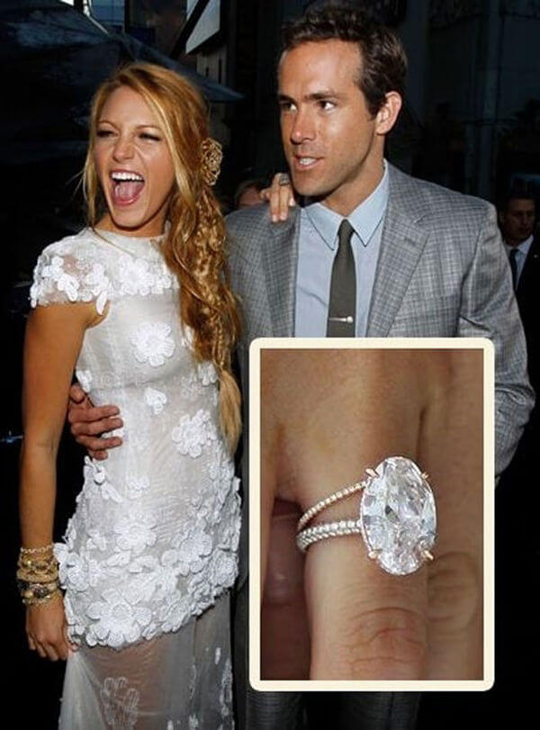 Blake Lively's Oval Engagement Ring