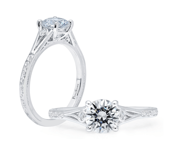 Vintage-Inspired Solitaire Engagement Ring