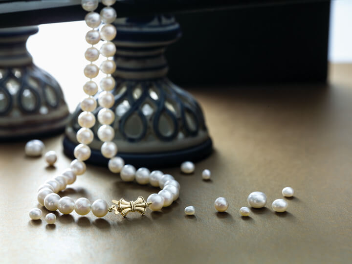 Strand of akoya pearls