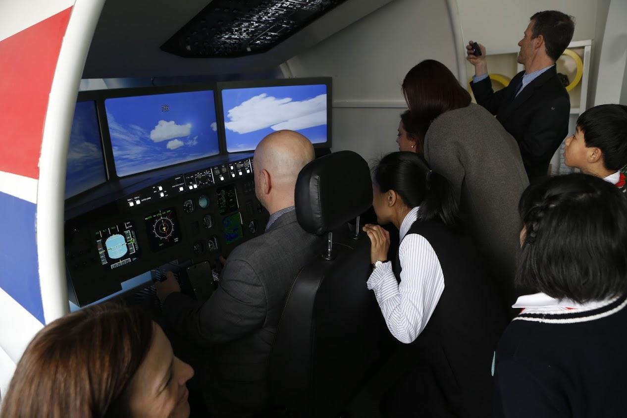 Test piloting a flight simulator in Shenyang