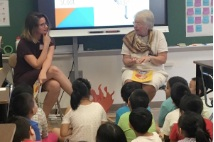 - P.S. 120 Peer Collaborative Teacher Caroline Cregan hosting a visit into her classroom from former NYC Chancellor Carmen Farina.