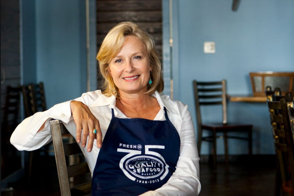 Carol Huntsberger    Carol Huntsberger is the proprietor of Quality Seafood Inc., a Texas Corporation spawned in Austin, Texas. Since 1938, Quality Seafood has provided fresh seafood for over 150 wholesale accounts, local retail customers, feed thousands of people fresh prepared seafood from the restaurant and catered fundraisers, crawfish boils and many parties. Prior to owning Quality Seafood, Carol was a Senior Sales Director with Mary Kay Cosmetics, with 75 women on her team. She earned the use of free cars for 10 years and traveled around the world. Carol has been involved in many organizations including St. Theresa's School Board, Co-Chair for the Auction committee for Family Fair at St. Andrews Episcopal School, and many other school, church and civic committees. She currently serves on the Advisory Board of the McCoy College of Business Administration and the Development Foundation at Texas State University, The State of Texas Department of Agriculture Shrimp Marketing Board, and the Airport Blvd. District Redevelopment Advisory Group for the City of Austin, Vice President on Candlelight Ranch Board and Alternate on the Gulf Seafood Marketing Coalition and serves on the Advisory Board for the Culinary Program at Texas State Technical College in Hutto. Ms. Huntsberger Graduated from Texas State University in 1983 with a B.B.A. in Accounting.