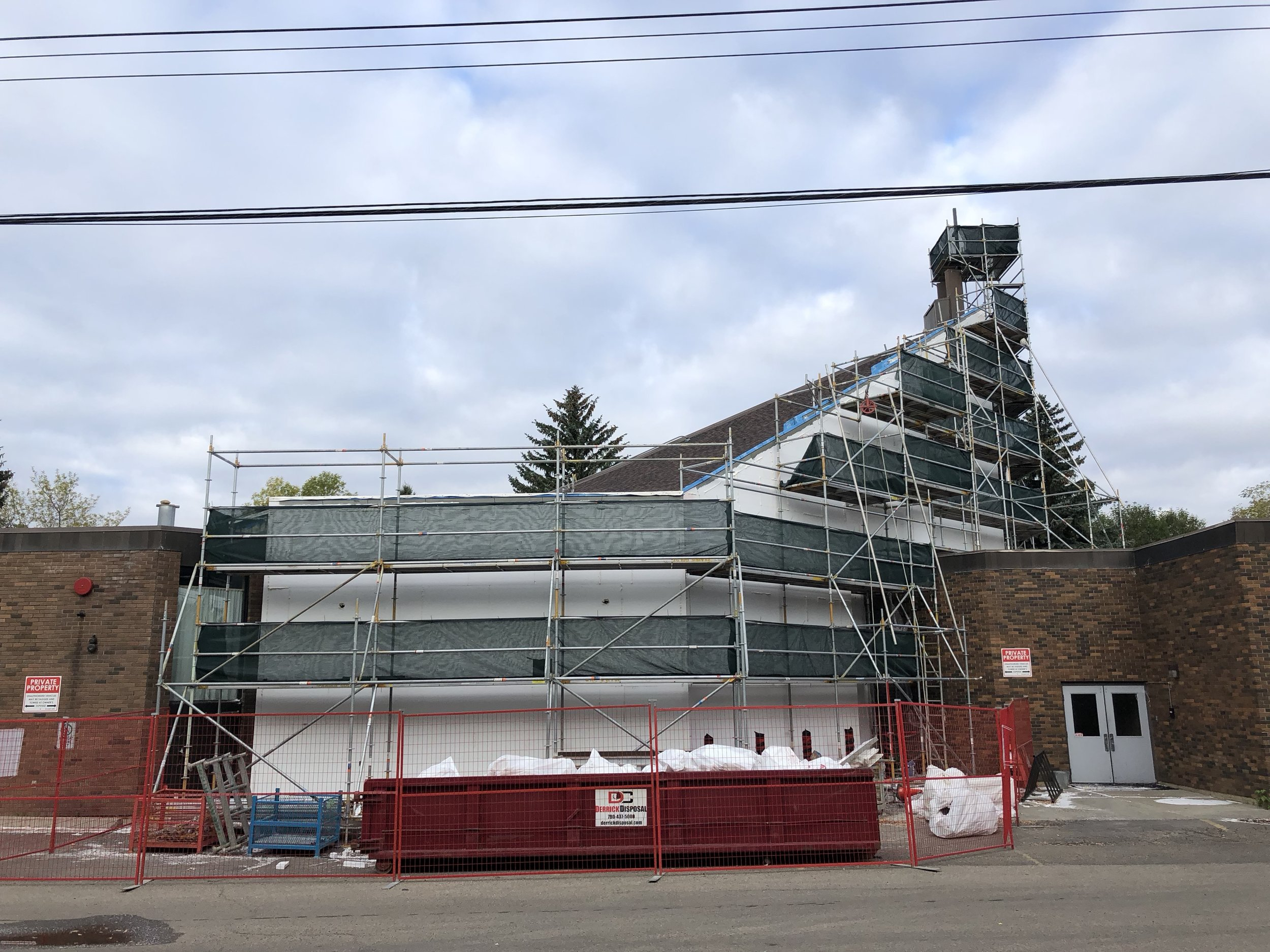 Connors Hill re-cladding - getting ready for stucco!