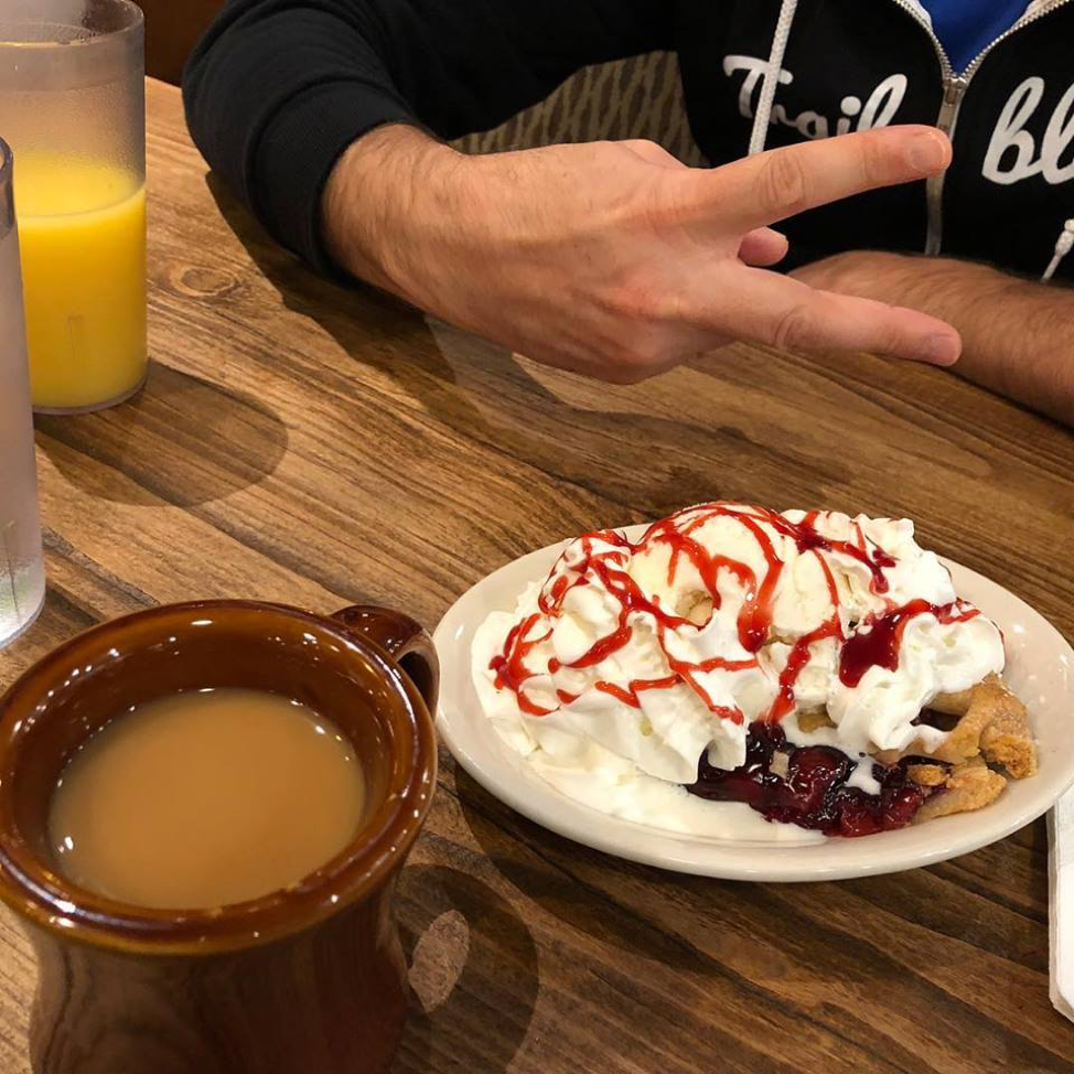Sharing a slice of pie with a friend at Dreamforce 2017…it's all about moderation