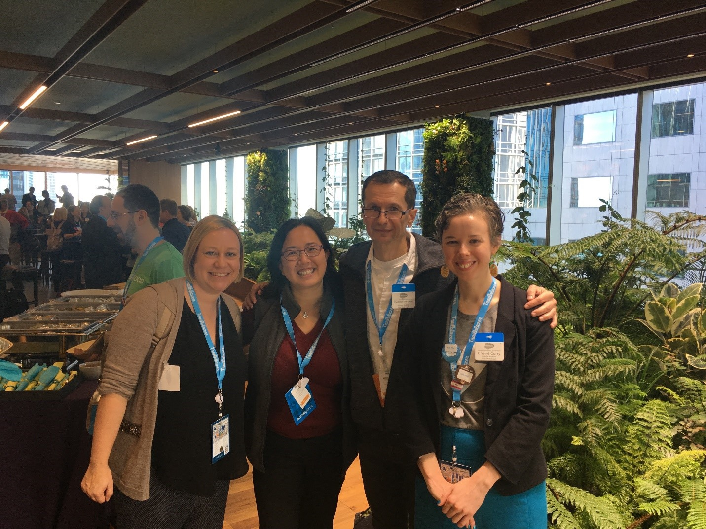 [Above: The HomeKeeper Team at the 2017 Amplify Breakfast – left to right, Valerie Rogers, Tiffany Eng, Vladimir Martinov (Developer at DaizyLogik) and Cheryl]
