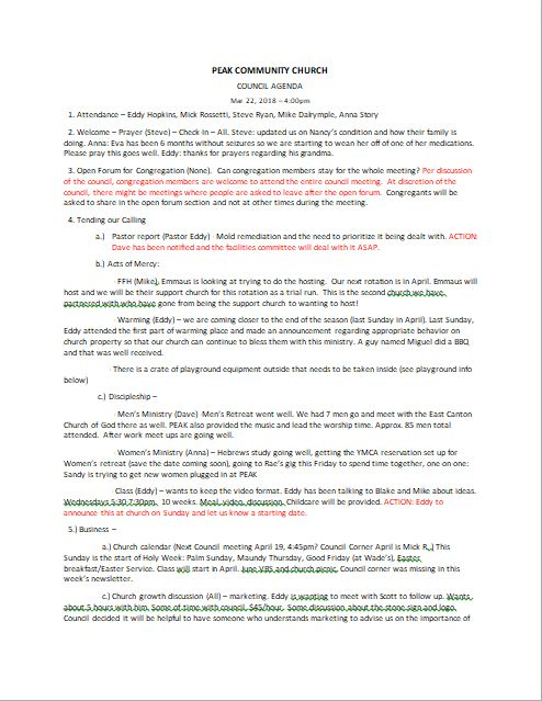 Council Minutes 7/30/18