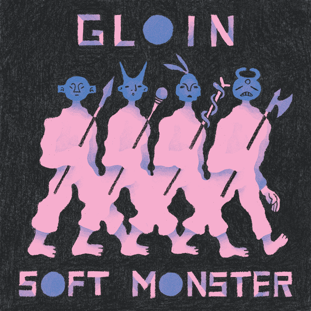 GLOIN Album Art - I got the opportunity to collaborate with Toronto indie rock and math rock band; GLOIN on the artwork and design package for their 2019 EP Soft Monster